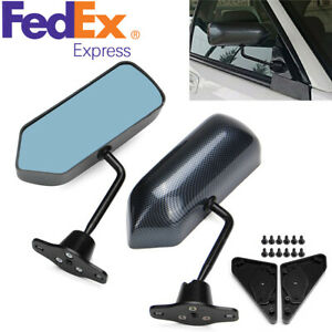 Pair F1 Style Carbon Fiber Car Vehicles Racing Side Rear View Mirrors us Stock
