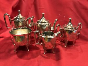 Antique Victorian Silverplate Coffee Tea Set
