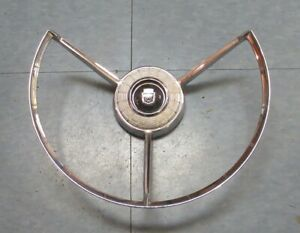 1958 Ford Fairlane Original Used Steering Wheel Horn Ring