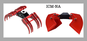 Icm na Forest Agri System With Log Grapple Brush Tine Clamshell Bucket