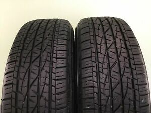 Set Of 2 Used Tires P225 65r17 102h Firestone Destination Le2 2256517