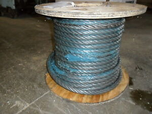 7 8 X 125 Iwrc Wire Rope Cable Spool 6x36 W Spelter Crane Cable Rigging