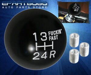 For Vw Shift Knob Ball Racing Short Throw Vintage F Ing Fast Adapter Kit White