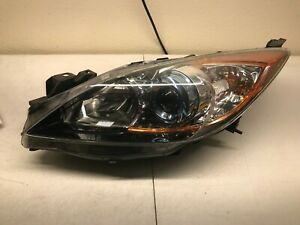 2012 2013 Mazda 3 Lh Driver Headlamp Assembly Oem