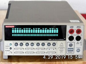 Keithley 2420 High Current Sourcemeter 60vdc 3a 60w Nist W data 4 19 90 Day Wrnt