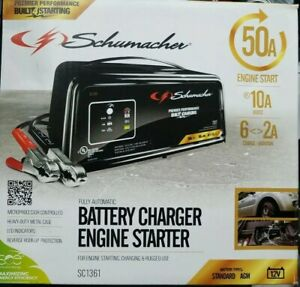 Schumacher Sc1361 Automatic Battery Charger Steel 2 10 50 Amp