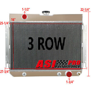 3 Row Aluminum Radiator For Chevy Bel air Malibu Biscayne 1964 1965 1966 67 Pro