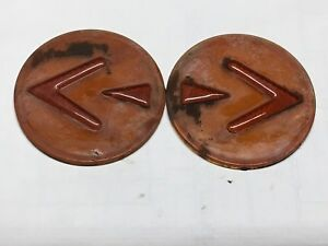 Vintageg Pair Truck Bus Amber Kd Sho Turn Vintage Turn Lamp Lens Light 4 7 8