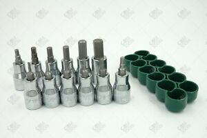 Sk Hand Tools 19722 12pc 3 8 Dr Fractional Hex Bit Socket Set