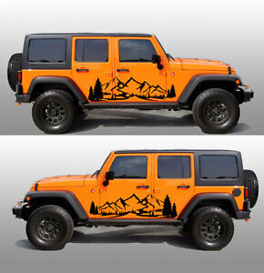 Jeep Wrangler Rocky Mountain Decal 2 Jk Jl Unlimited Rubicon Sahara 64x20