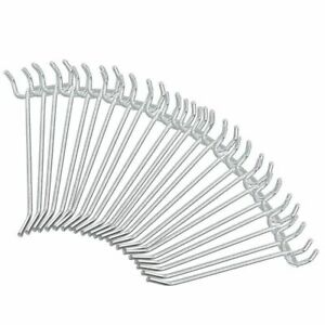 50pc 4 Inch Pegboard Hooks Peg Board Zinc Plated Value Pack 4 Inch New