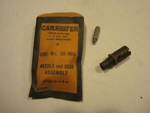 1939 1951 Cadillac Lasalle Packard Carburetor Needle And Seat Carter 2bbl