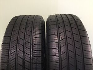 Set Of 2 Used Tires P205 55r16 91h Michelin Defender 2055516