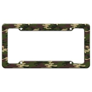 Green Camouflage License Plate Tag Frame