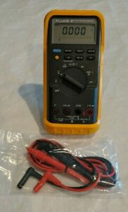 genuine Fluke Fluke 87 True Rms Digital Multimeter New Leads