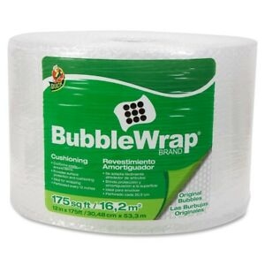 Duck Protective Packaging Bubble Wrap 12 Width X 175 Ft Length 187 5 Mil