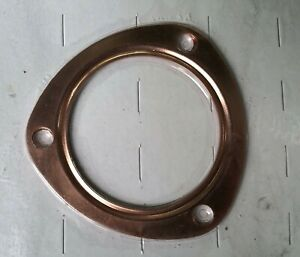 Copper Exhaust Gasket Set For 3 Hole 3 5 Diameter Collector Ford Gm Chevy Mopar