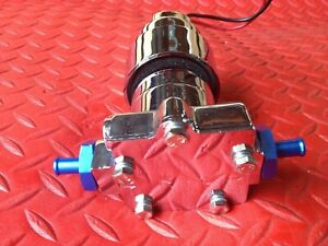 Electric Fuel Pump Chrome 7 Psi 100gph 3 8 In Outlet W Pressure Relief Valve