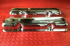 Valve Covers Amc Jeep 390 360 401 304 Triple Chrome Plated New Cover 3 9174