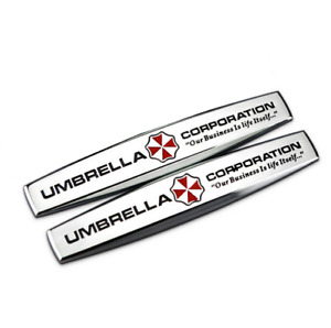 2x3d Metal Resident Evil Umbrella Corporation Car Tailgate Fender Emblem Sticker