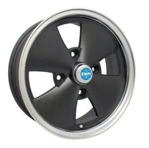 Black Empi 4 Spoke Wheels 15 X 5 1 2 For Vw Beetles And Dune Buggies