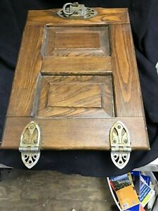 Vintage Antique Ice Box Icebox Wood Refrigerator Door Only Restoration Repairs