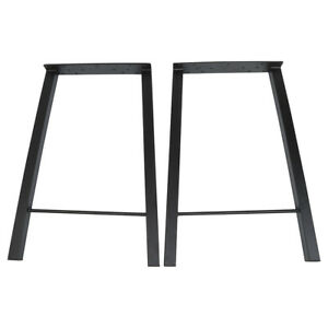 Set Of 2 2pcs 28 Industry Coffee Table Leg Metal Steel Chair Bench Legs