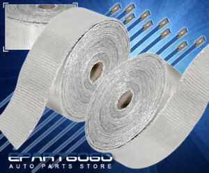 360 30ft Car Moto Bike Exhaust Pipe Header Heat Wrap Roll stainless Tie Silver