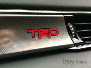 2 Trd Toyota Racing Development Vinyl Dash Sticker Decal Camry Tundra Tacoma
