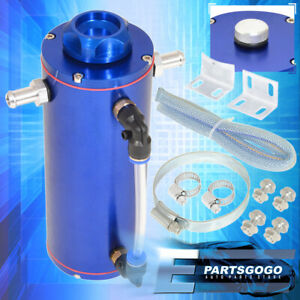 350ml Blue Over Flow Overflow Catch Tank Radiator Coolant Aluminum Reservoir