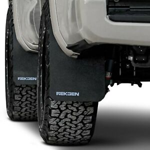 For Toyota Tacoma 2016 2019 Rek Gen T1005 Rally Edition Mud Flaps W Gray Logo