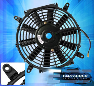 Black 14 Inch Slim Fan Radiator Push Pull Thin Electric Cooling 12v Jdm