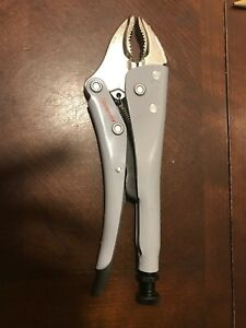 Snap On Tools 10 Long Locking Pliers Vise Grips Lp10wr Curved Jaw Cutter Spain