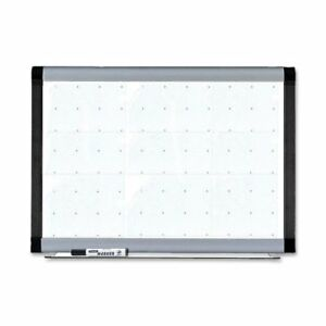 Lorell Signature Magnetic Dry Erase Board With Grid Lines 48 Width X 36
