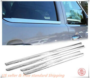 For 2000 2006 Chevrolet Tahoe Suburban Stainless Steel Chrome Window Sill Trim
