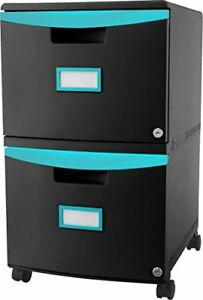 Storex 2 drawer Mobile File Cabinet 61315u01c