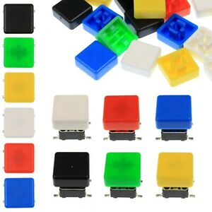 A66 Tactile Cap Switch Momentary Button Square Flat Keycap 6 Colours