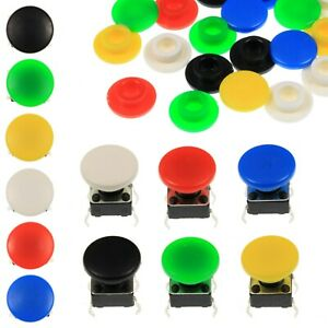 A29 Tactile Cap Switch Momentary Push Button Round Pan Keycap 6 Colours