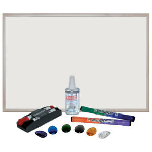 Ecr4kids Dry erase white Board Bulletin Board With Markers Eraser And Magnets