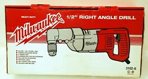 Milwaukee 3102 6 Plumbers Kit 7 Amp 1 2 inch Right Angle Drill With D handle