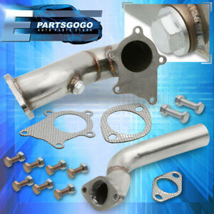 For 00 05 Mitsubishi Eclipse T3 Performance Racing Turbo Down Pipe 4g64 2 4l