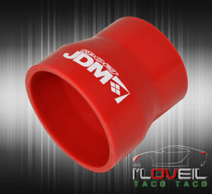 Turbo Jdm 2 5 To 3 Silicone Hose Reducer Coupler Red For Infiniti Lexus Acura