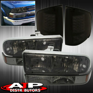98 04 Chevy S10 Truck Smoke Headlights Red Led Tail Lights Replacement Led