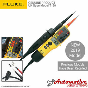 Genuine Fluke T150 Audible Voltage Continuity Electrical Lcd Two Pole Tester
