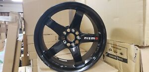 Genuine Nismo Lmgt4 Omori Wheels Gloss Black Set New 4030s Rsr27 Bk