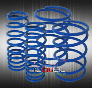 Blue Lowering Spring Front Rear Suspension Coil For 07 14 Ford Mustang Gt500