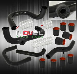 94 01 Integra B16 18 Bolt On Turbo Fmic Piping Bov Flange Black red Coupers