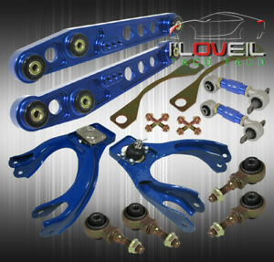 94 01 Acura Integra Jdm Blue Racing Suspension Camber Kit Lower Control Arms