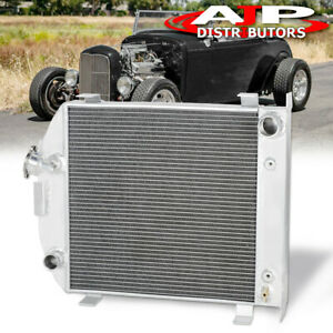 Grill Shell Rat Rod Chopped Racing Cooling Radiator For 1932 Ford Lo Boy Low Boy