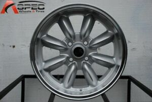 15x7 Rota Rb 4x108 30 Royal Silver Wheels Rims Set 4